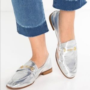 Topshop 8 Karpenter Silver Metallic Loafer (EU 39)